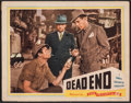 "Movie Posters:Crime, Dead End (Film Classics, R-1944). Fine/Very Fine. Lobby Card (11"" X 14""). Crime.. ..."