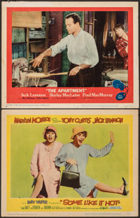 """Some Like It Hot & Other Lot (United Artists, 1959). Fine/Very Fine. Lobby Cards (2) (11"""" X 14""""). Comedy..."""