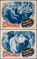 """Movie Posters:Film Noir, To Have and Have Not (Warner Bros., 1944). Fine/Very Fine. Lobby Cards (2) (11"""" X 14""""). Film Noir.. ..."""