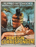 "Movie Posters:Hitchcock, Foreign Correspondent (Gola, R-1960s). Fine+ on Linen. Indian One Sheet (30"" X 40""). Hitchcock. From the Collection of Fra..."
