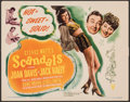 "Movie Posters:Comedy, George White's Scandals (RKO, 1945). Very Fine. Title Lobby Card (11"" X 14""). Comedy. From the Collection of Frank Buxton,..."