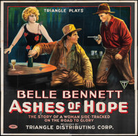 "Ashes of Hope (Triangle, 1917). Folded, Fine-. Six Sheet (81.5"" X 81.5""). Western"