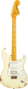Musical Instruments:Electric Guitars, 2013 Fender Stratocaster '69 Relic Vintage White Solid Body Electric Guitar, Serial #R66590.. ...