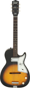 Musical Instruments:Electric Guitars, Late 50's/Early 60's Harmony Stratotone Sunburst Solid Body Electric Guitar.. ...