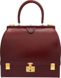 Luxury Accessories:Bags, Hermès Rouge H Calf Box Leather Sac Mallette with Gold Ha...
