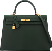 Hermès 35cm Vert Anglais Epsom Leather Sellier Kelly Bag with Gold Hardware R, 2014 Condition: 3<