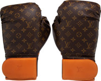 "Louis Vuitton x Karl Lagerfeld Limited Edition ""Celebrating Monogram"" Boxing Gloves Condition: 1 ... (Total: 2..."
