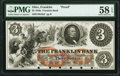 Franklin, OH- Franklin Bank of Portage County $3 18__ G8a Wolka 1120-08 Proof PMG Choice About Unc 58 EPQ