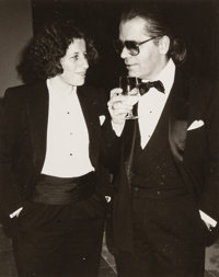 Andy Warhol (American, 1928-1987) Fran Lebowitz and Karl Lagerfeld, 1984 Gelatin silver 10 x 8 inches (25.4 x 20.3 cm