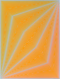 Prints & Multiples, Richard Joseph Anuszkiewicz (b. 1930). Untitled, from Inward Eye, 1970. Serigraph in colors on paper. 26 x 19-3/4 in...