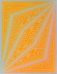 Richard Joseph Anuszkiewicz (b. 1930) Untitled, from Inward Eye, 1970 Serigraph in colors on paper 26 x 19-3/4 in