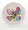 Collectible, Zao Wou-Ki (1921-2013). Orchidée, 1986. Ceramic plate. 9-3/4 inches (24.8 cm) diameter. Edition of 40. Stamped to the re...