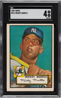 1952 Topps Mickey Mantle #311 SGC VG-EX 4
