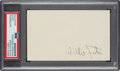 Baseball Collectibles:Others, 1970's Willie Foster Signed Index Card. He was th...