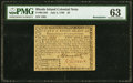 Rhode Island July 2, 1780 $2 Remainder PMG Choice Uncirculated 63