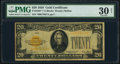 Small Size:Gold Certificates, Fr. 2402* $20 1928 Gold Certificate Star. PMG Very Fine 30 Net.. ...