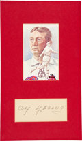 Baseball Collectibles:Others, 1950 Cy Young Signed Government Postcard Display. ...