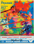 Boxing Collectibles:Autographs, 1971 Ali-Frazier I Official Program Signed by Muhammad Ali & Joe Frazier. ...