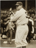 Baseball Collectibles:Photos, 1929 Babe Ruth Original Photograph by Underwood & Underwood, PSA/DNA Type 1. ...