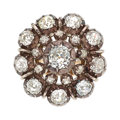 Estate Jewelry:Rings, Diamond, Silver-Topped Gold Ring The ring cent...