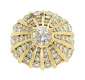 Estate Jewelry:Rings, Diamond, Gold Ring The bombe ring features a r...