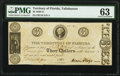Tallahassee, FL- Territory of Florida $3 June 3, 1830 Cr. T10 PMG Choice Uncirculated 63