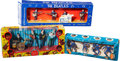 Music Memorabilia:Memorabilia, The Beatles Swingers Music Set, Pop Stars by Subbuteo and Blue Figures Set All Three in Box (3) (1960's). ...