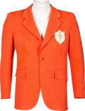 Music Memorabilia:Costumes, Elvis Presley Orange Sport Coat Specifically Made for Step-Brother Rick Stanley For Tour. ...