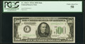 Fr. 2202-C $500 1934A Federal Reserve Note. PCGS Choice About New 58