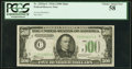 Fr. 2202-C $500 1934A Mule Federal Reserve Note. PCGS Choice About New 58