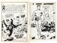 Wally Wood Daredevil #7 Cover and Pin-Up Production Proofs Group of 2 (Marvel, 1965).... (Total: 2 Items)