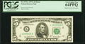 Error Notes:Mismatched Serial Numbers, Mismatched Serial Numbers Error Fr. 1975-L $5 1977A Federal Reserve Note. PCGS Very Choice New 64PPQ.. ...