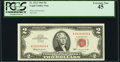 Fancy Serial Number 02220020 Fr. 1513 $2 1963 Legal Tender Note. PCGS Extremely Fine 45