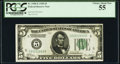 Fr. 1950-E $5 1928 Federal Reserve Note. PCGS Choice About New 55