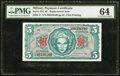 Series 641 $5 First Printing Replacement PMG Choice Uncirculated 64
