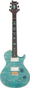 Musical Instruments:Electric Guitars, 2012 Paul Reed Smith (PRS) Private Stock #4222 Turquoise Solid Body Electric Guitar, Serial #12 196902.. ...