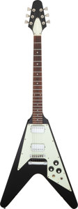 Musical Instruments:Electric Guitars, 1979 Gibson Flying V Black Solid Body Electric Guitar, Serial #73339137.. ...