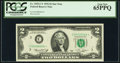 Low Serial Number 6064 Fr. 1935-C* $2 1976 Federal Reserve Star Note. PCGS Gem New 65PPQ