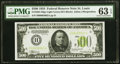 Small Size:Federal Reserve Notes, Fr. 2201-H $500 1934 Light Green Seal Federal Reserve Note. PMG Choice Uncirculated 63 EPQ.. ...