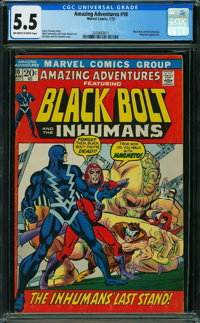 Amazing Adventures #10 (Marvel, 1972) CGC FN- 5.5 OFF-WHITE TO WHITE pages