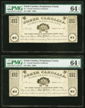 (Hertford), NC- Perquimans County $1 Apr. 25, (18)62 Two Examples PMG Choice Uncirculated 64 EPQ. ... (Total: 2 notes)