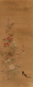 Paintings, A Set of Two Japanese Kano School Paintings, circa 1850. Marks: each scene with signature characters and seals. 58-1/4 x 24-... (Total: 2 Items)