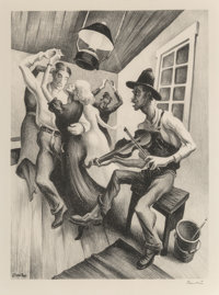 Thomas Hart Benton (American, 1889-1975) I Got a Gal on Sourwood Mountain, 1938 Lithograph on Rives