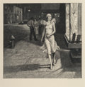 Prints & Multiples, Martin Lewis (American, 1881-1962). Night in New York, 1932. Etching on paper. 8-3/8 x 8-7/8 inches (21.3 x 22.5 cm) (im...