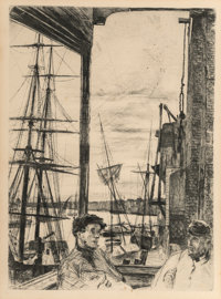 James Abbott McNeill Whistler (American, 1834-1903) Rotherhithe, 1860 Etching and drypoint on paper
