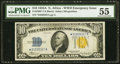 Fr. 2309* $10 1934A North Africa Silver Certificate. PMG About Uncirculated 55