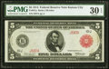 Low Serial Number J597A Fr. 841a $5 1914 Red Seal Federal Reserve Note PMG Very Fine 30 EPQ