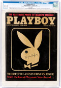 Magazines:Miscellaneous, Playboy V31#1 Signed by Hugh Hefner (HMH Publishing, 1984) CGC VF 8.0 White pages....