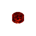 Gems:Faceted, Gemstone: Red Zircon - 34.60 Cts.. Tanzania. ...