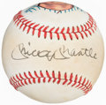 Autographs:Baseballs, Mickey Mantle Single-Signed Painted Baseball. ...